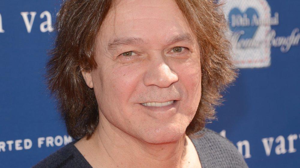 Eddie Van Halen smiling a charity event in LA in 2013