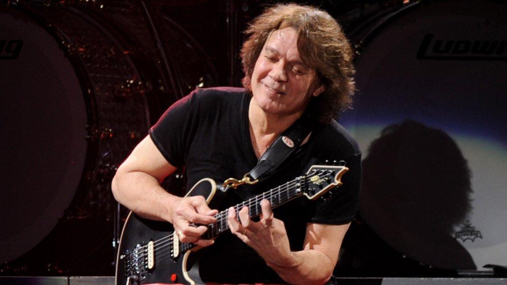 Eddie Van Halen playing guitar in 2012