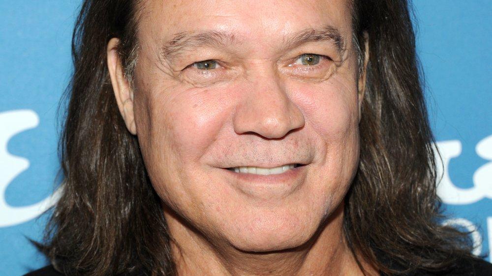 Eddie Van Halen smiling at a 2013 Esquire bash