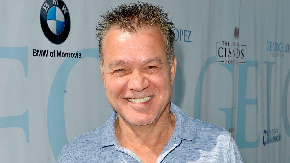 Eddie Van Halen smiling a celebrity gold tournament in 2017