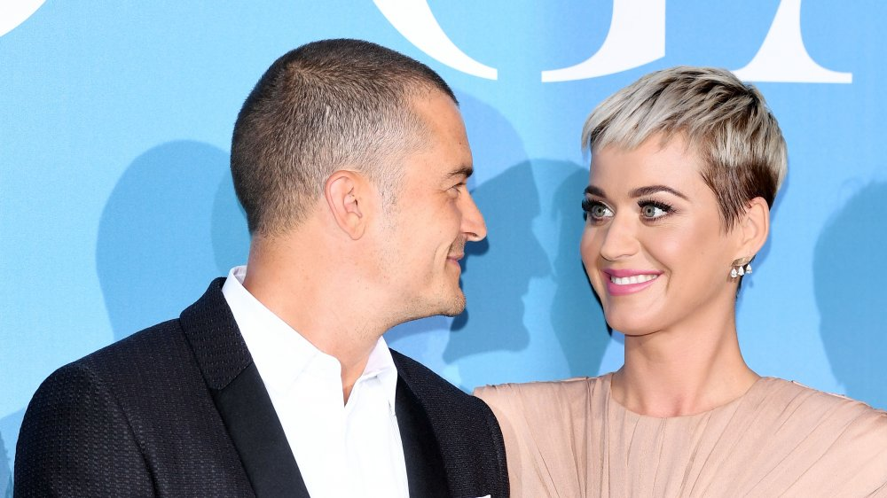 Orlando Bloom and Katy Perry at the Gala for the Global Ocean in 2018