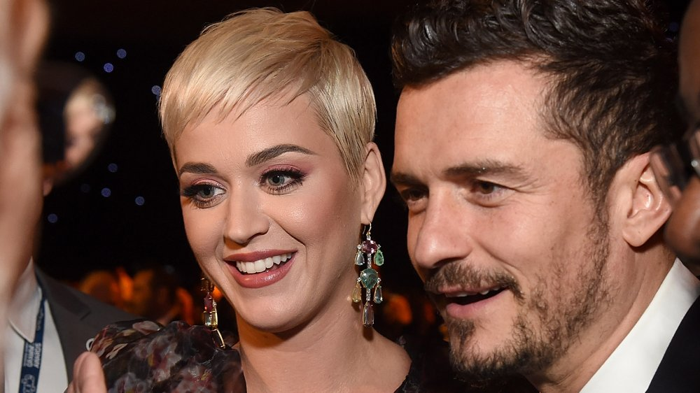 Katy Perry and Orlando Bloom at MusiCares Person of the Year honoring Dolly Parton in 2019