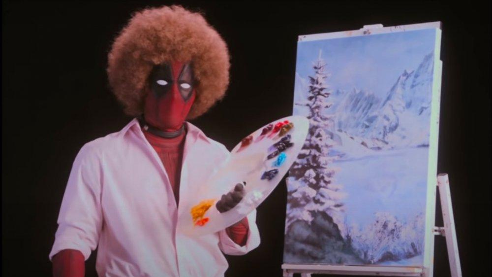 Ryan Reynolds comme Deadpool comme Bob Ross