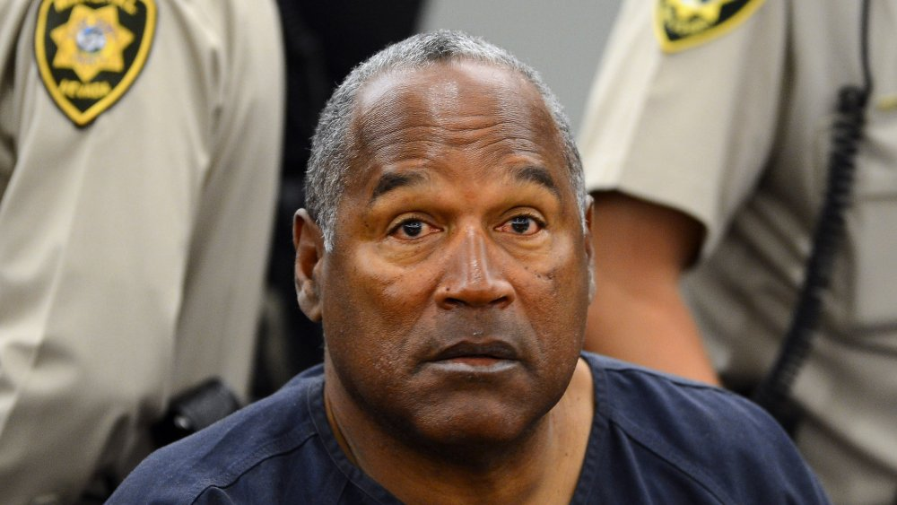 OJ Simpson lors d'une audition des preuves devant le tribunal de district du comté de Clark en 2013