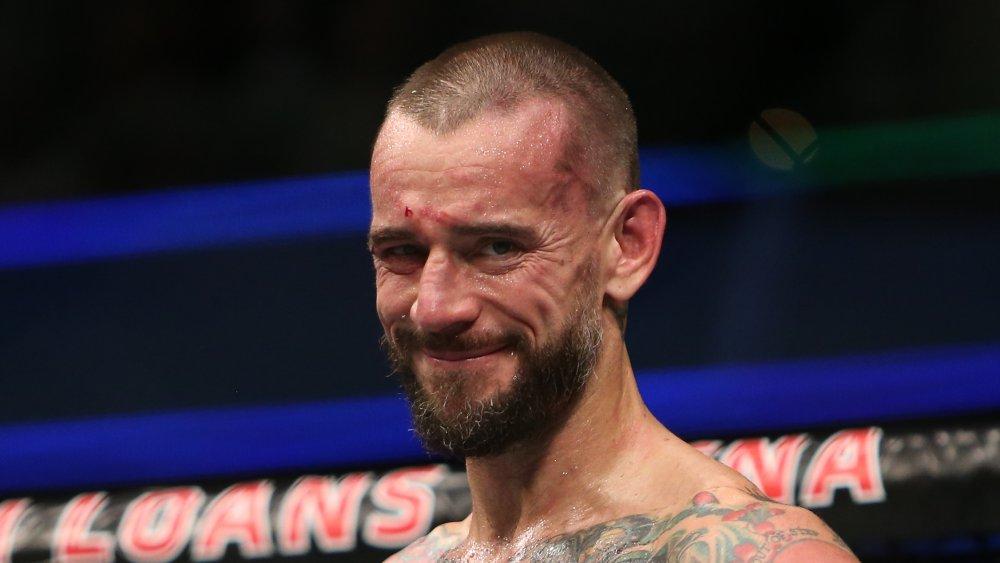 CM Punk à l'événement UFC 203