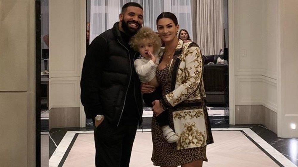 Drake, his son Adonis, and Sophie Brussaux celebrating Adonis' birthday