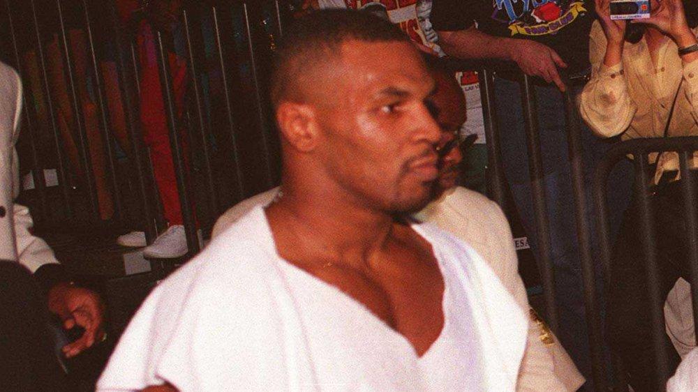 Mike Tyson avant un match de boxe