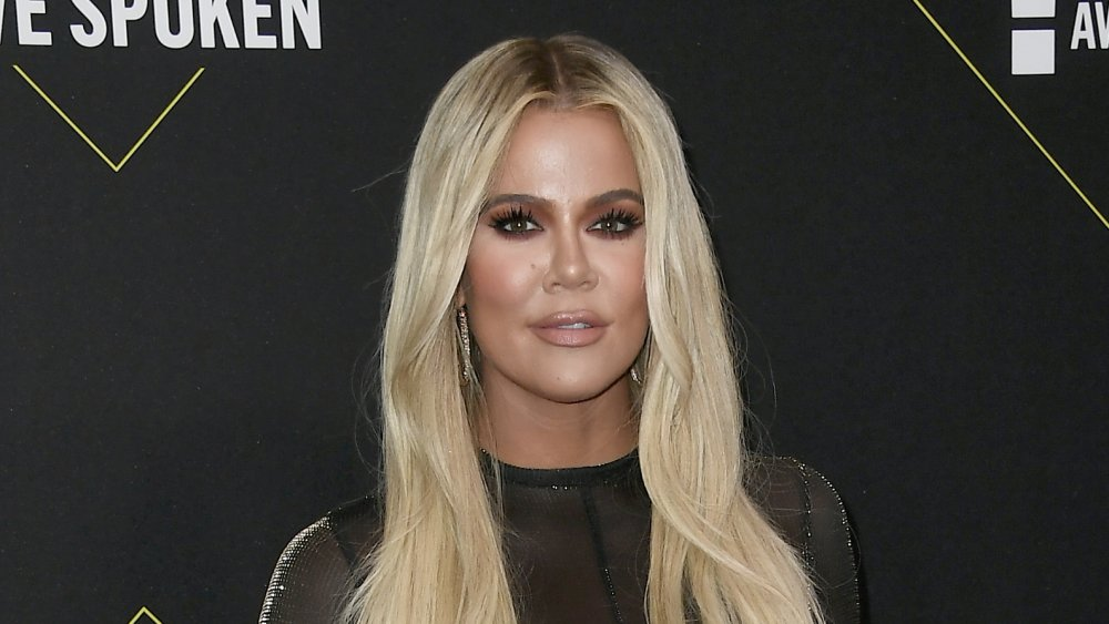 Khloé Kardashian with blonde hair