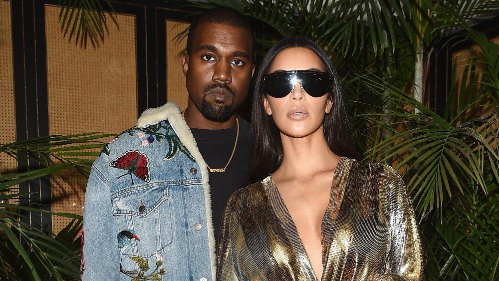 Kanye West et Kim Kardashian à la Fashion Week de Paris en 2016