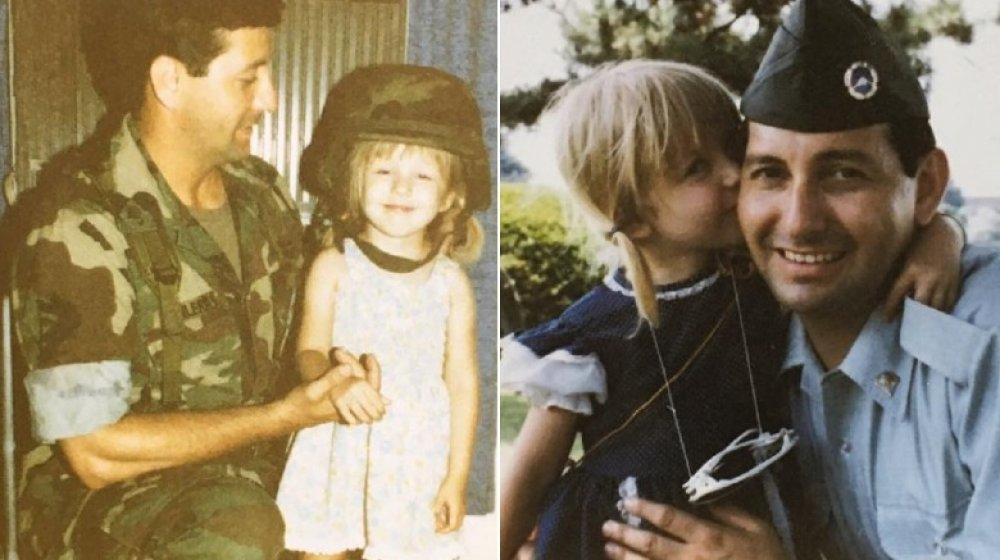 La jeune Christina Aguilera avec son père