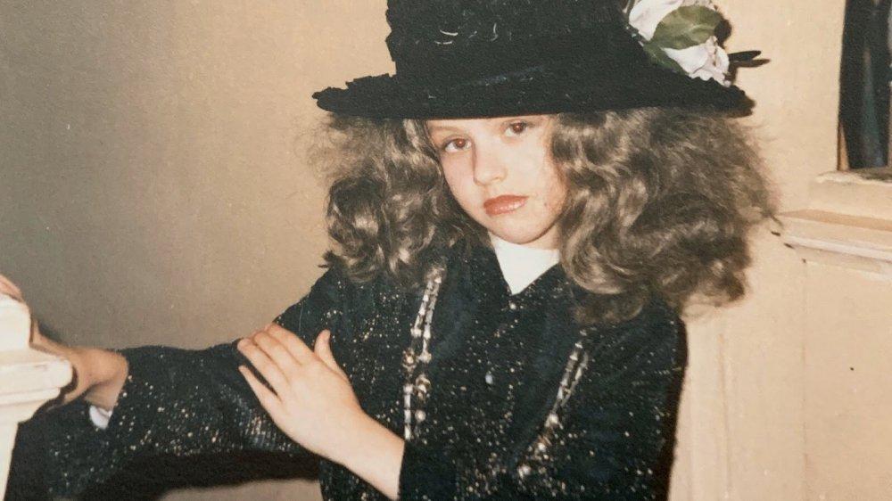 La jeune Christina Aguilera habillée pour Halloween