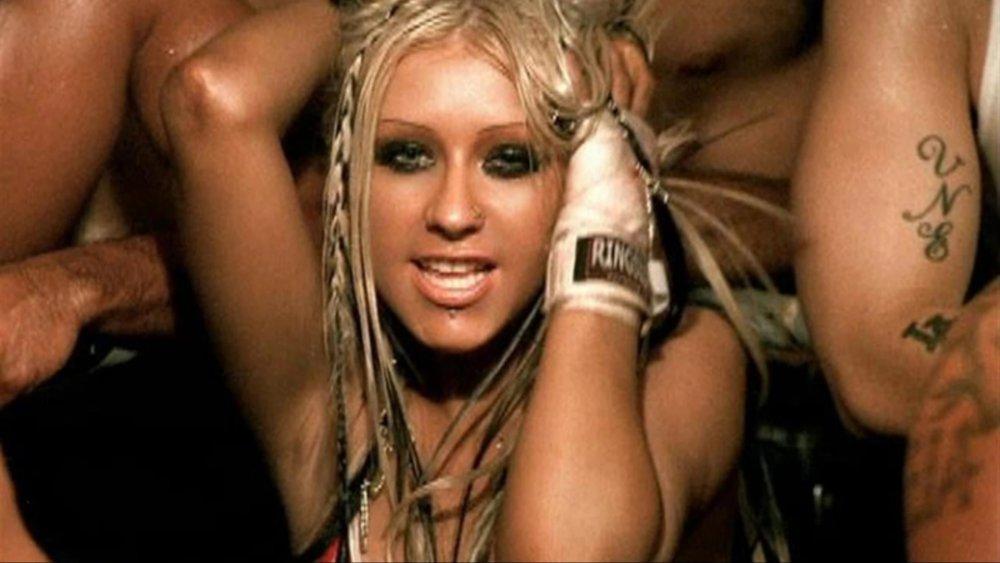 Christina Aguilera dans le clip de Dirrty