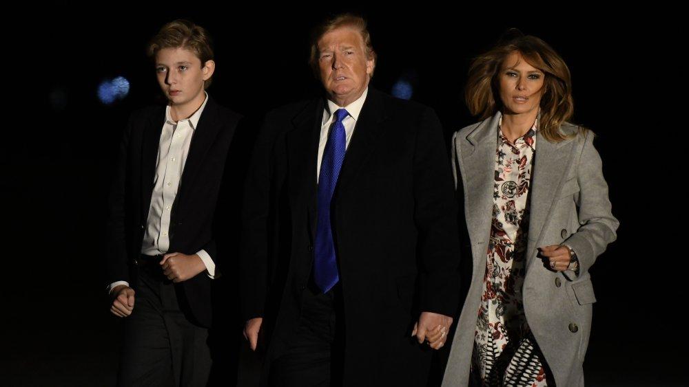 Donald Trump, Melania Trump et Barron Trump
