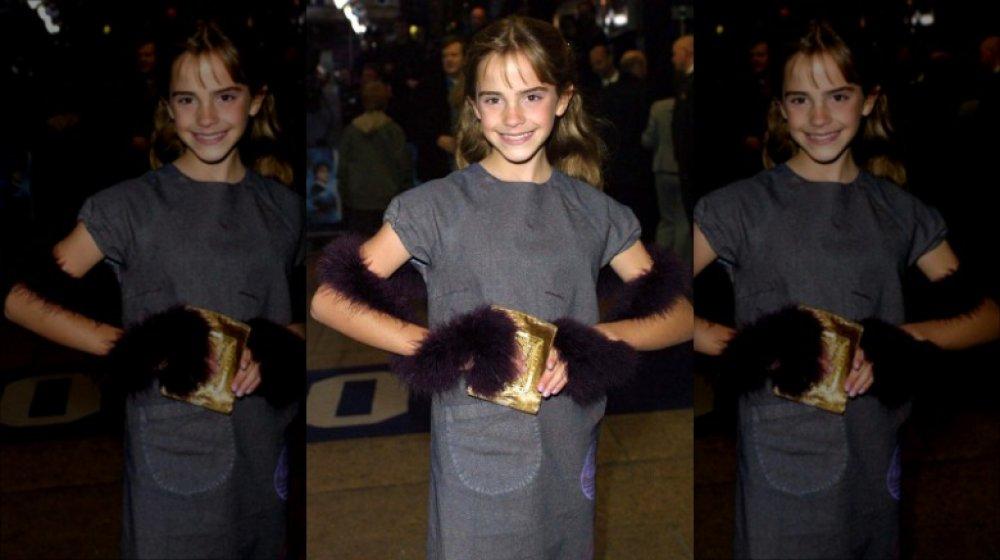 Emma Watson lors de la première première de Harry Potter en 2001