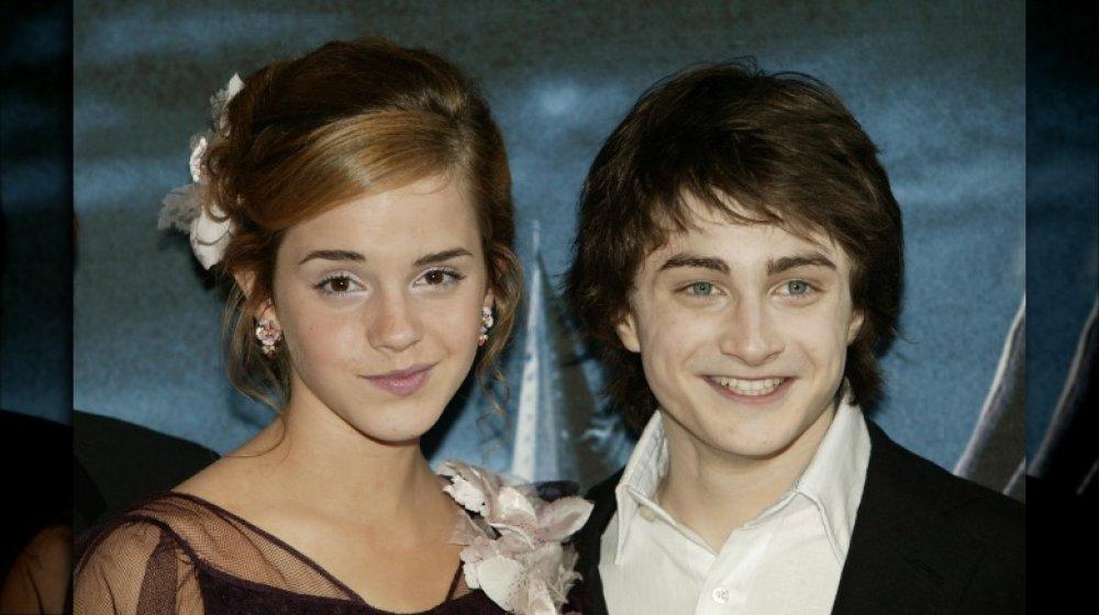 Emma Watson et Daniel Radcliffe lors de la première de 2004 de Harry Potter et le prisonnier d'Azkaban