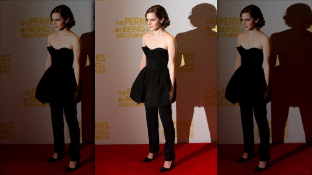 Emma Watson à la première des avantages d'être une giroflée