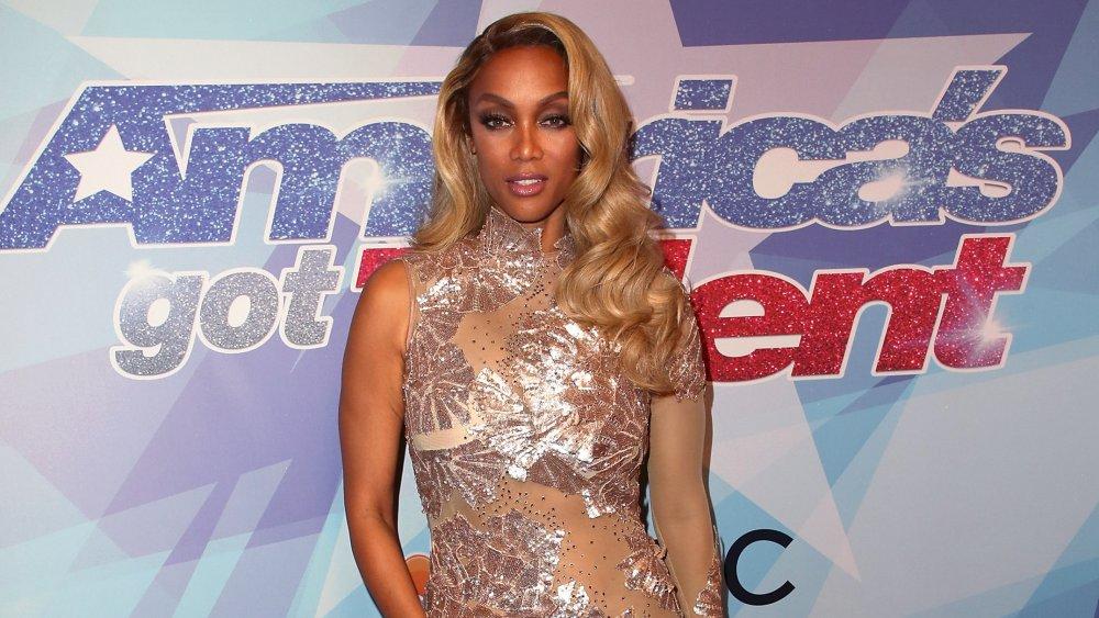 Tyra Banks sur le tapis rouge de America's Got Talent