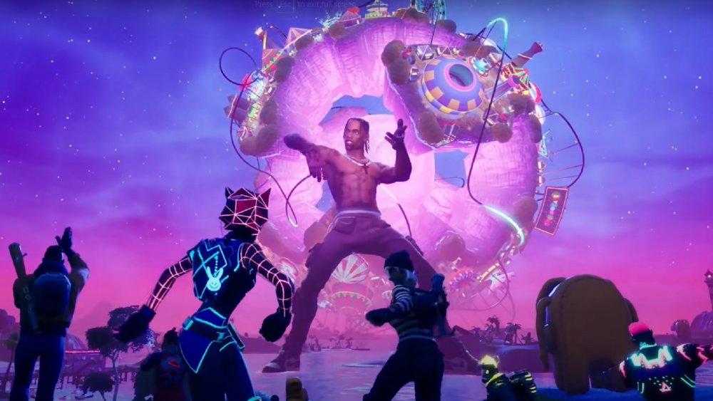 L'avatar de Travis Scott lors de l'événement astronomique de Fortnite