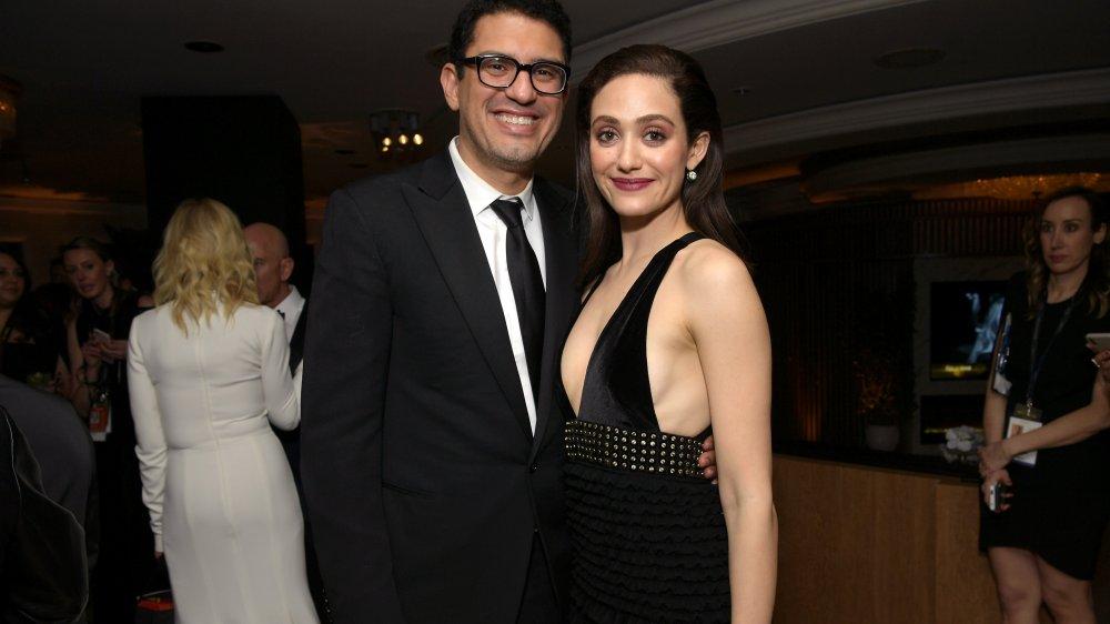 Emmy Rossum et Sam Esmail à l'afterparty des Golden Globes