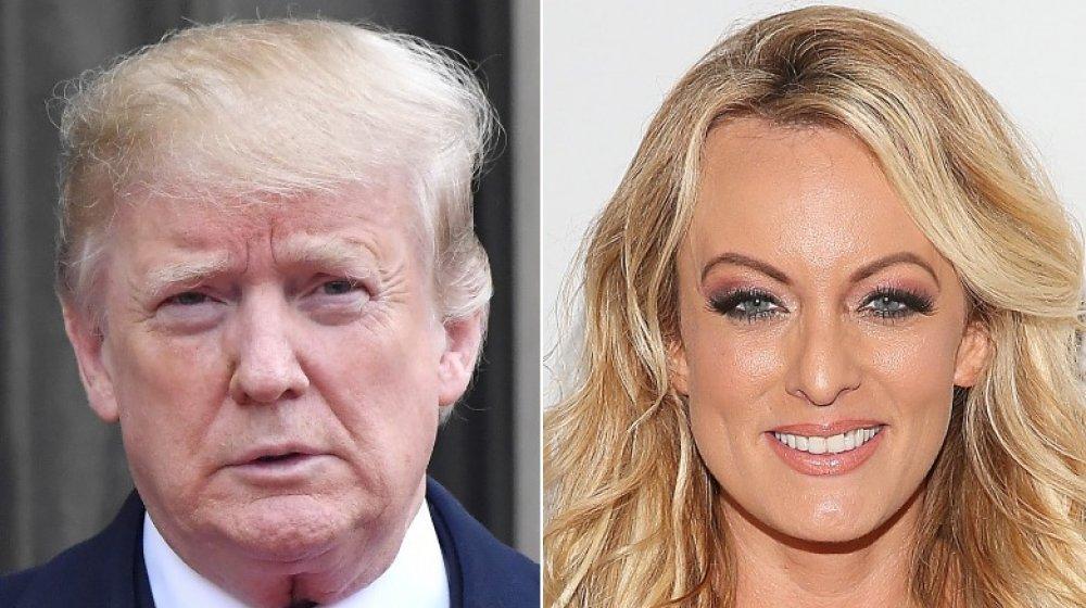 Donald Trump en France en 2018;  Stormy Daniels aux XBIZ Awards en 2019
