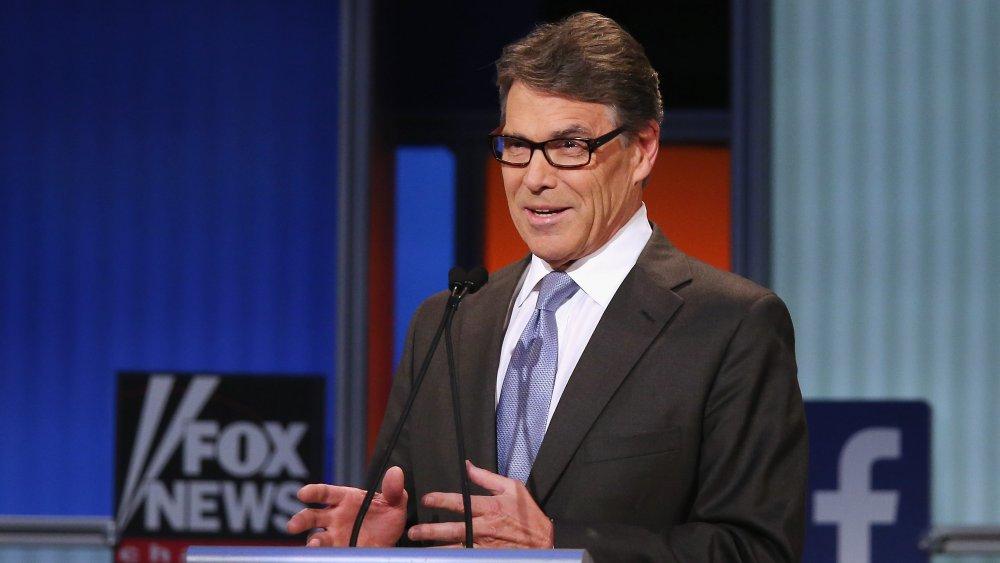 Rick Perry au podium