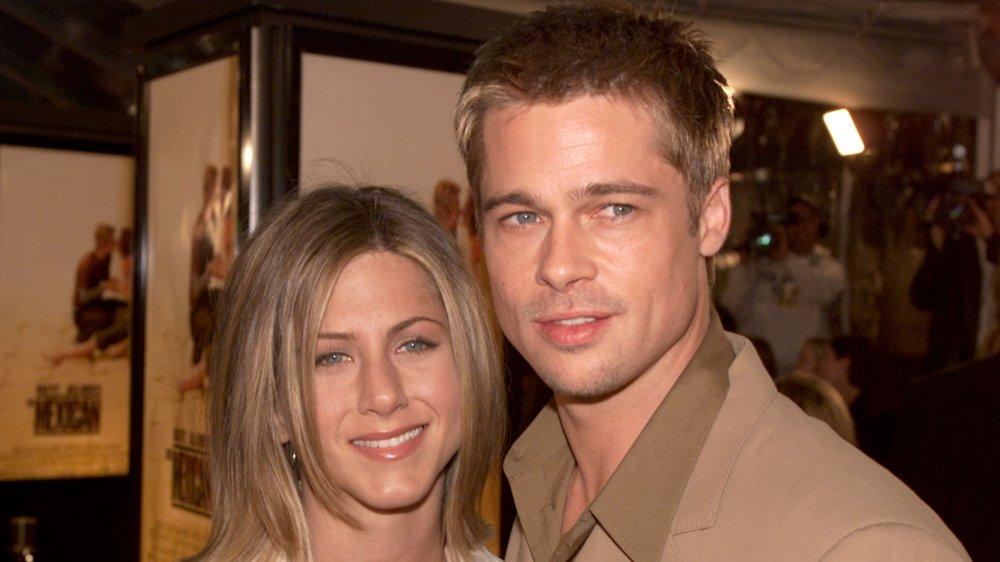 Jennifer Aniston et Brad Pitt lors de la première de The Mexican en 2001