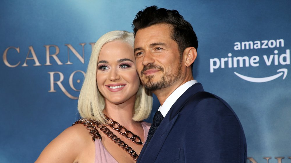 Katy Perry and Orlando Bloom at the Los Angeles premiere of Carnival Row in 2019