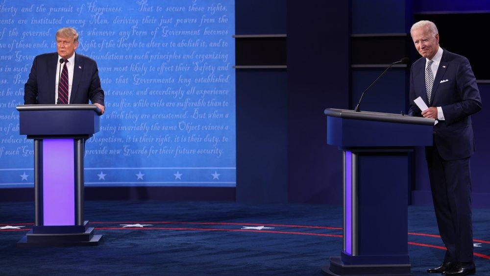 Donald Trump et Joe Biden au débat