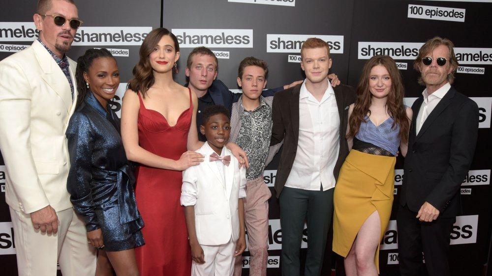 Le casting de Shameless à la célébration du 100e épisode