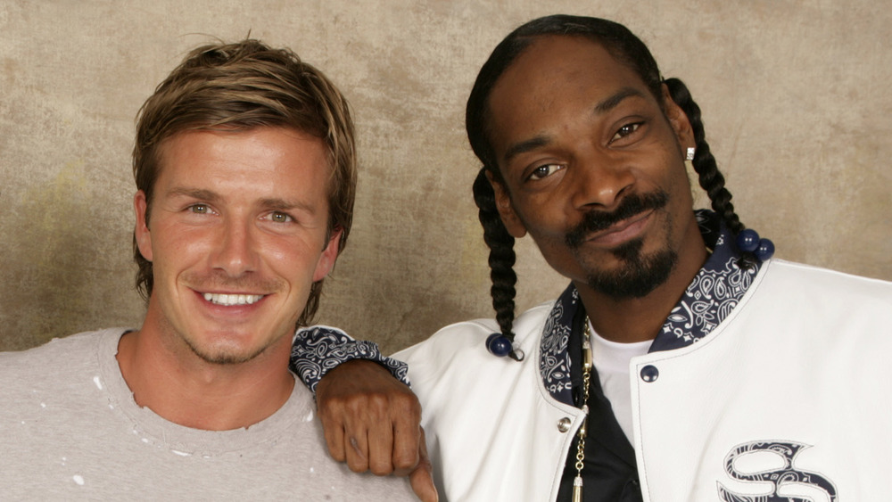 David Beckham et Snoop Dogg souriant
