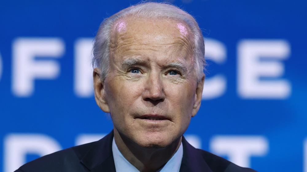 Joe Biden a l'air sérieux