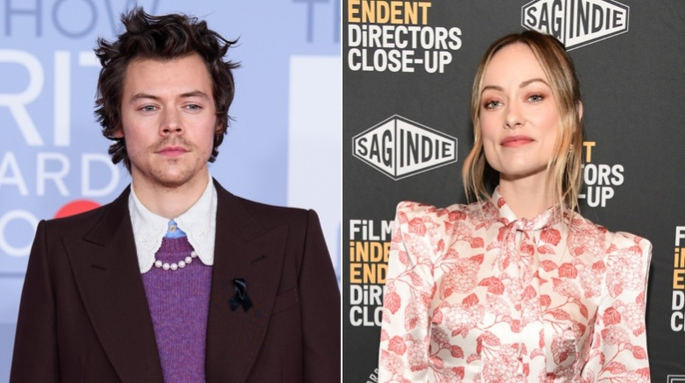 Harry Styles et Olivia Wilde posant