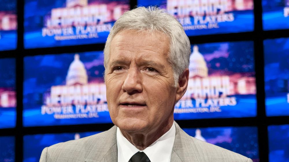 Alex Trebek sur le tournage de Jeopardy