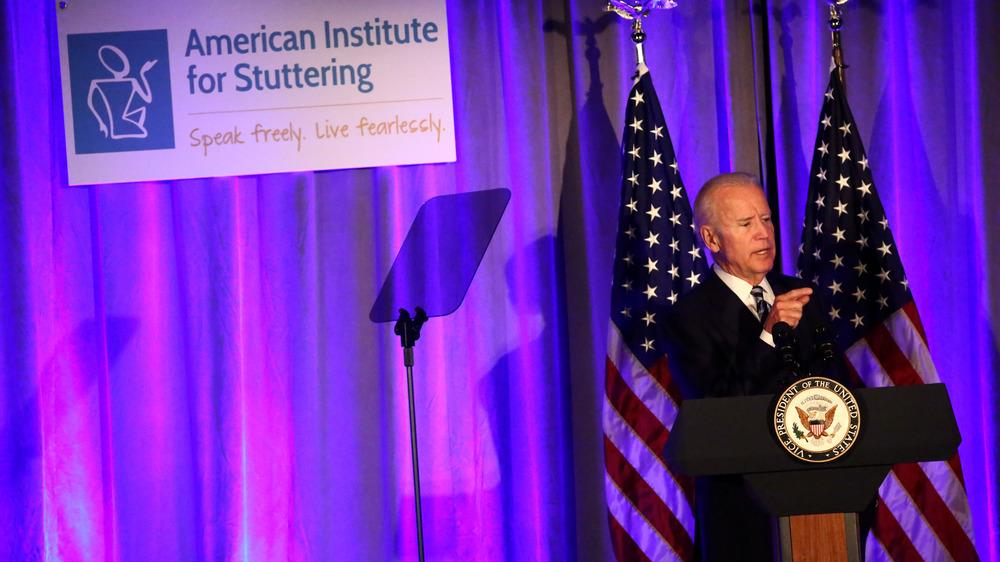 Joe Biden prononce un discours sur le bégaiement