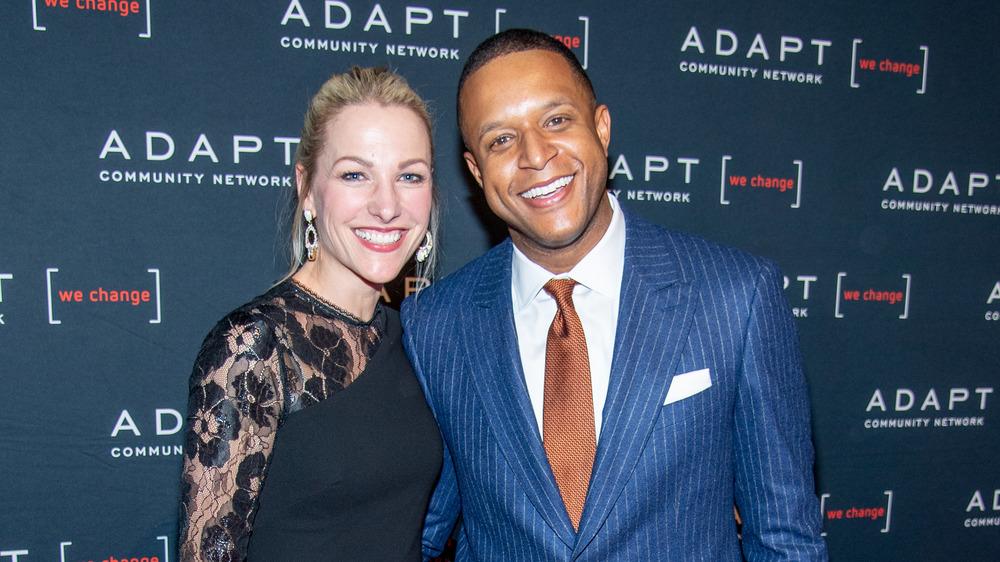 Lindsay Czarniak et Craig Melvin, souriant ensemble