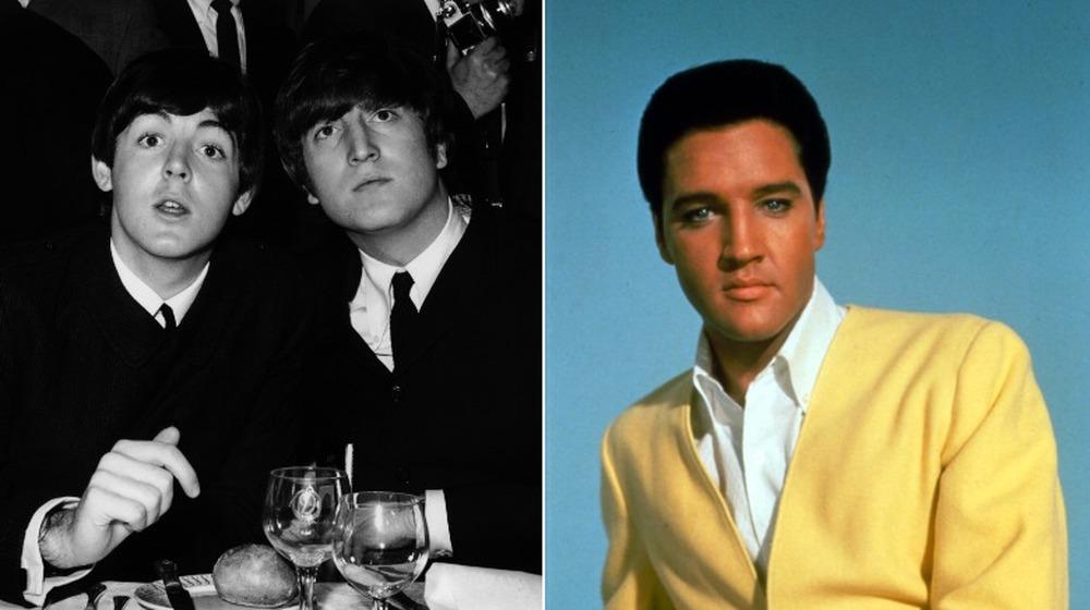 Paul McCartney, John Lennon et Elvis