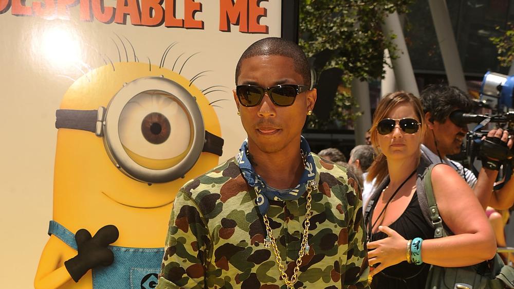 Pharrell Williams lors de la première de Despicable Me