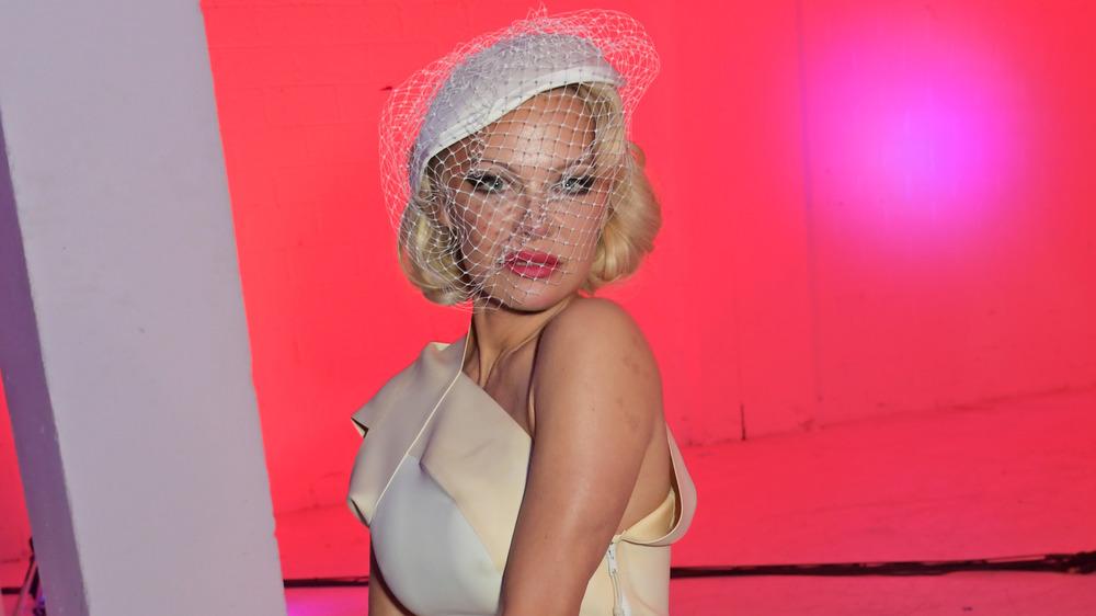 Pamela Anderson au spectacle de Vivienne Westwood