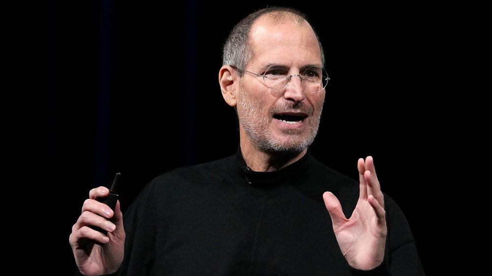 Steve Jobs s'exprimant