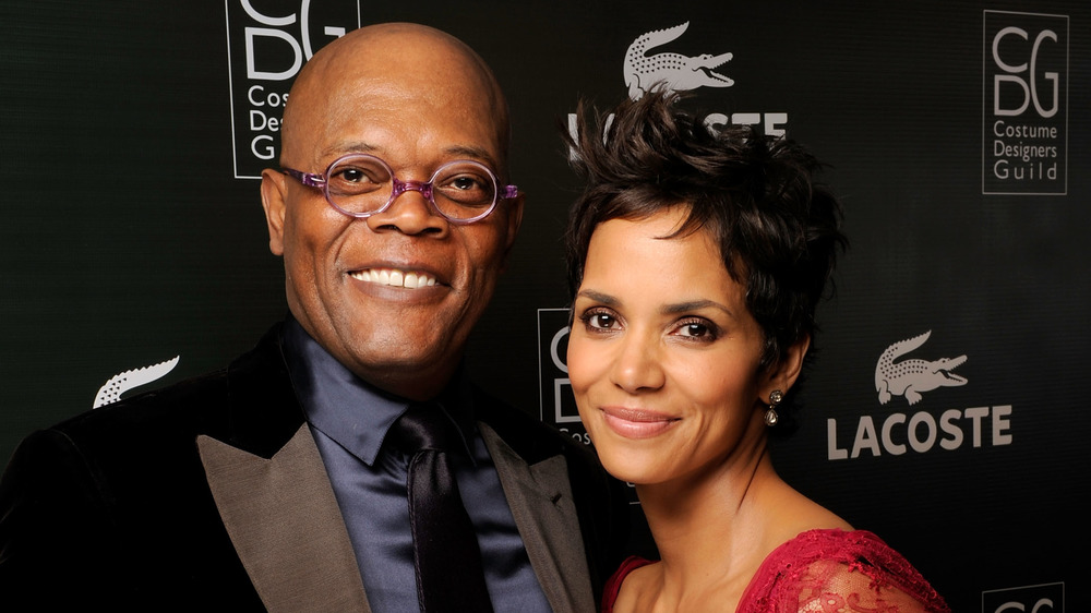 Samuel L.Jackson et Halle Berry souriant