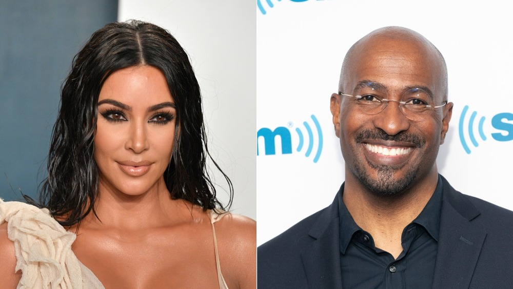 Kim Kardashian West et Van Jones souriant