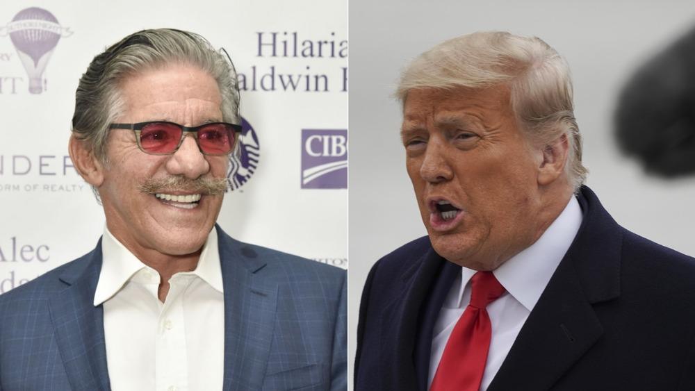 Écran partagé de Geraldo Rivera et Donald Trump