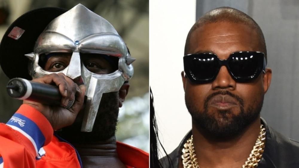 MF DOOM sur scène et Kanye West posant