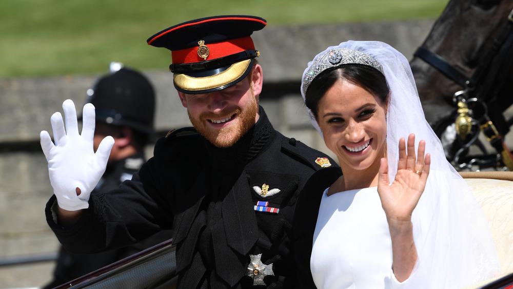 Prince Harry et Meghan Markle le jour de leur mariage