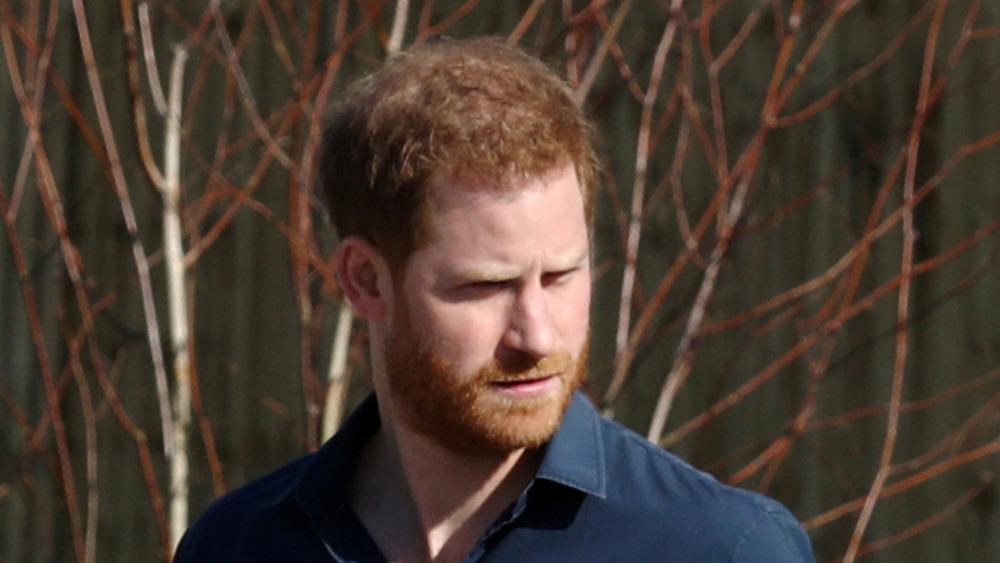 Prince Harry dehors et marchant