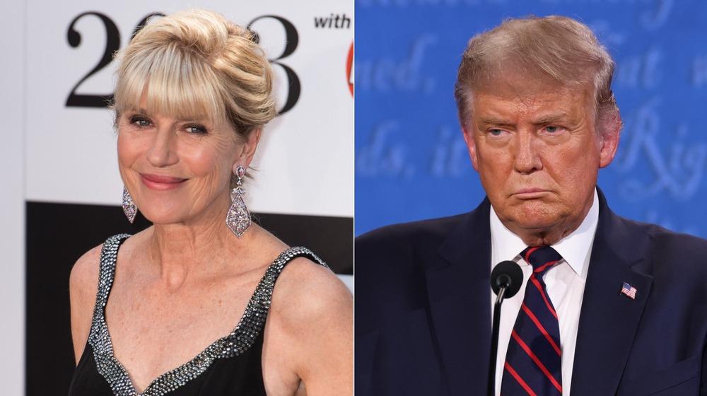 Selina Scott et Donald Trump