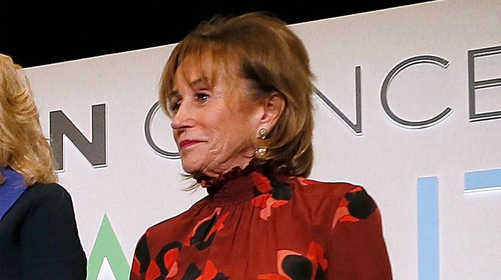 Valerie Biden Owens sur scène lors de la réception de bienvenue du Biden Cancer Summit en 2018
