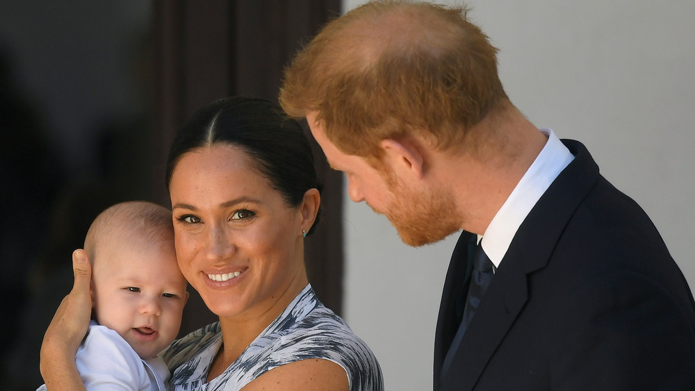 Meghan Markle avec son fils Archie et le prince Harry