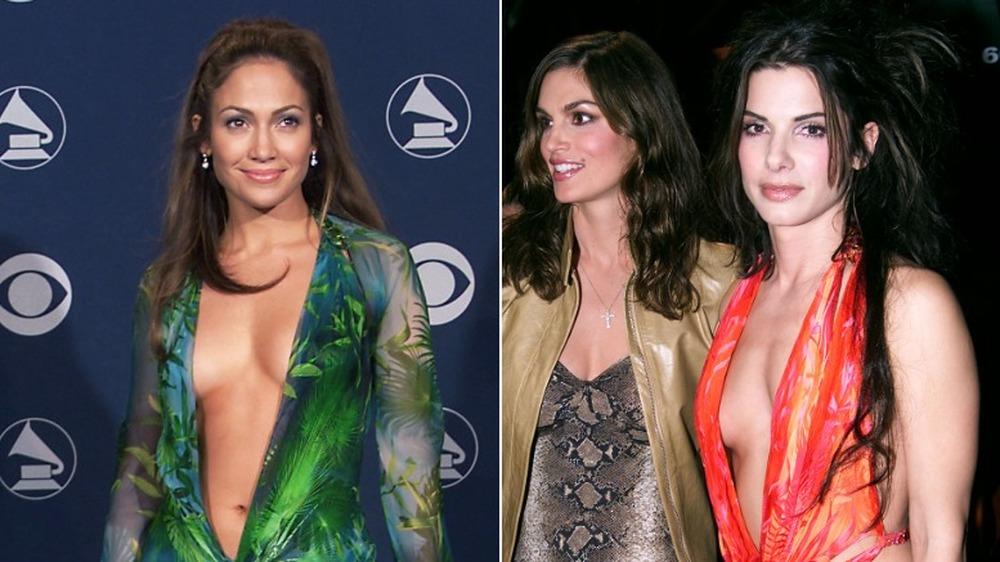 Jennifer Lopez et Sandra Bullock dans la même robe