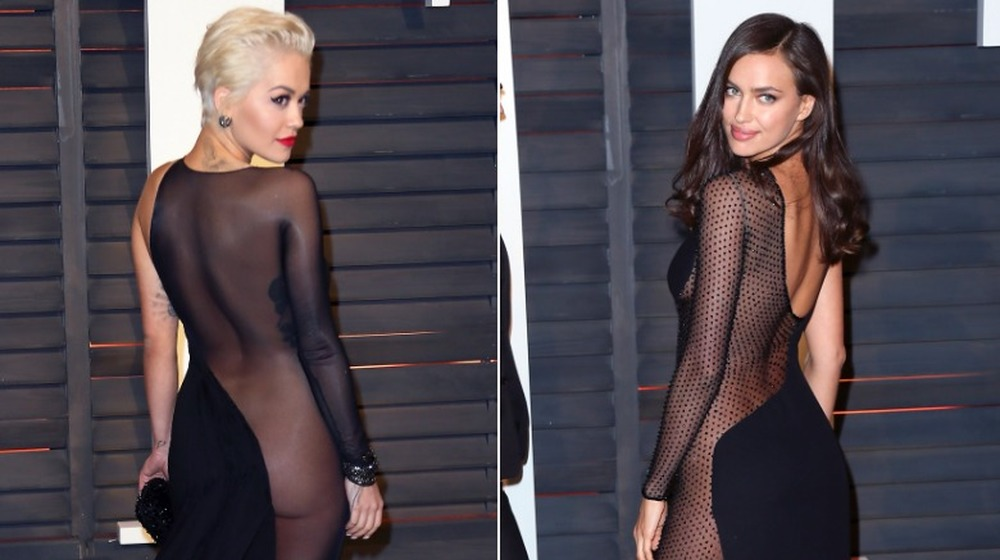 Rita Ora (à gauche) et Irina Shayk (à droite) à la Vanity Fair Oscar Party